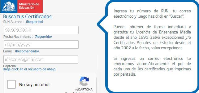 Certificado de educación media
