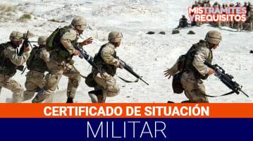 Certificado de situación militar