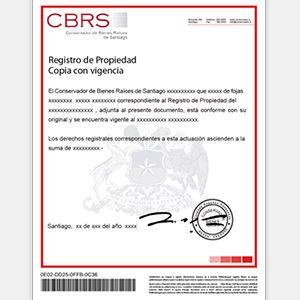 documento de certificado de dominio vigente