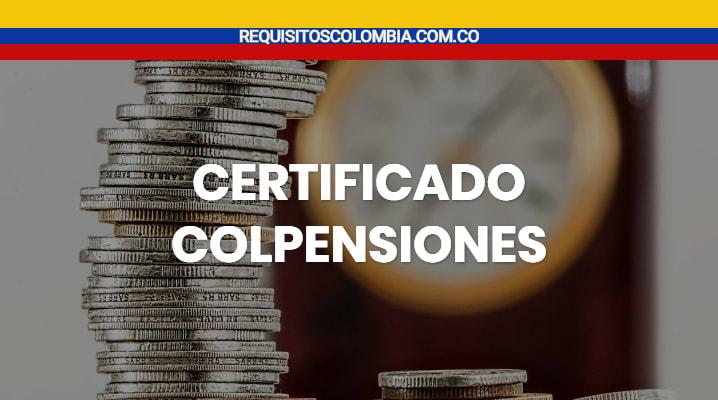 Certificado colpensiones