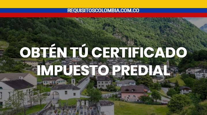 Certificado impuesto predial