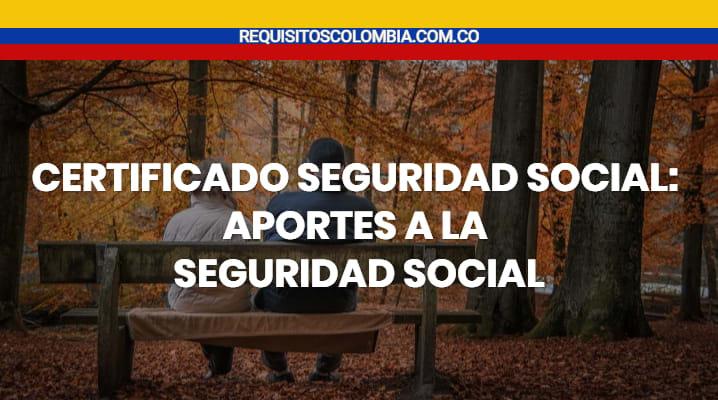 Certificado seguridad social