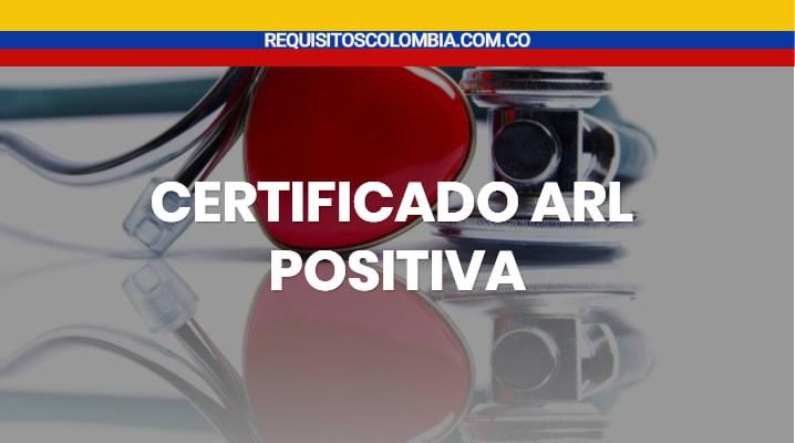 Certificado arl positiva