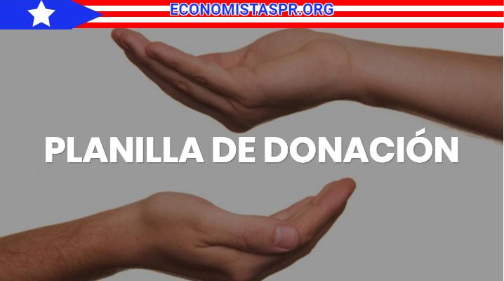 Planilla de donación