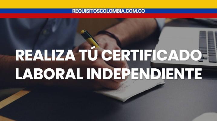 Certificado laboral independiente
