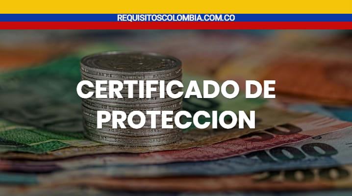 certificado de proteccion