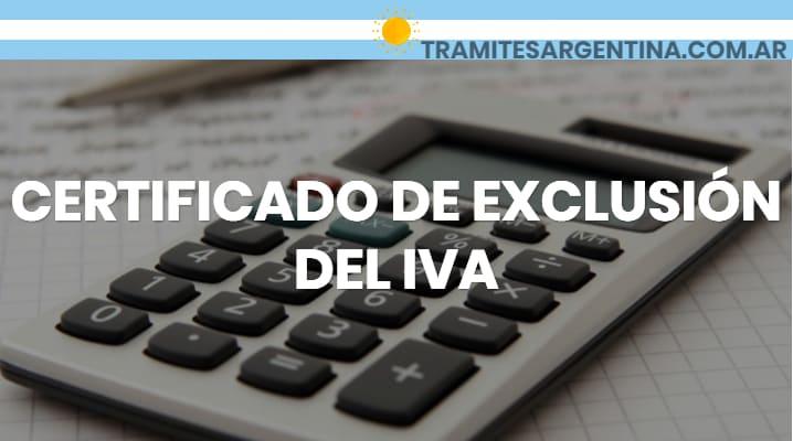 Certificado exclusión IVA