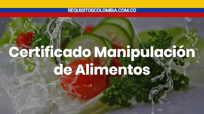 Certificado Manipulación de Alimentos