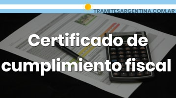 Certificado de cumplimiento fiscal