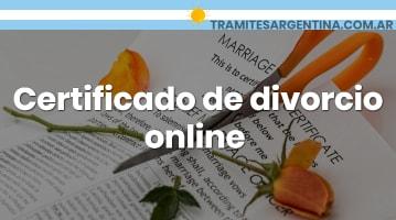Certificado de divorcio online
