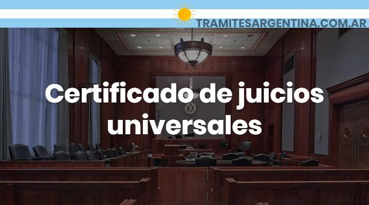 Certificado de juicios universales