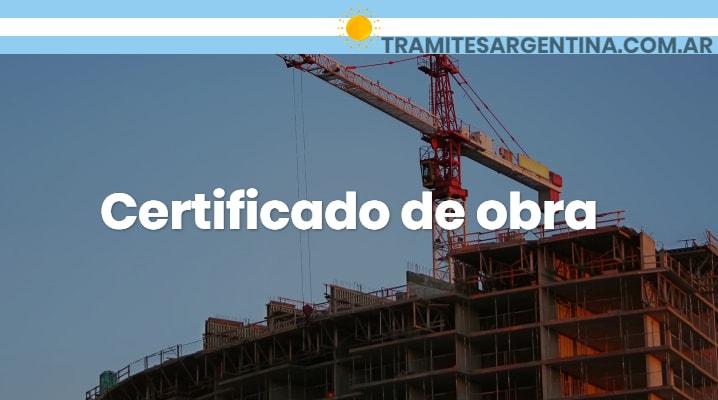 Certificado de obra