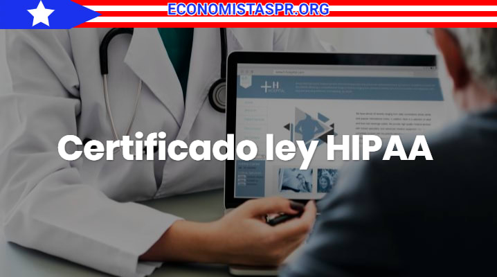 Certificado ley HIPAA