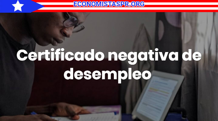 Certificado negativa de desempleo