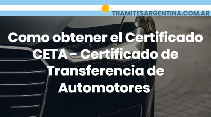 Certificado CETA