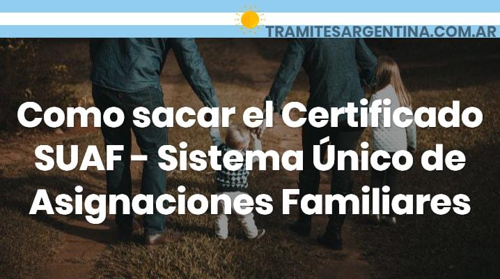 Certificado SUAF