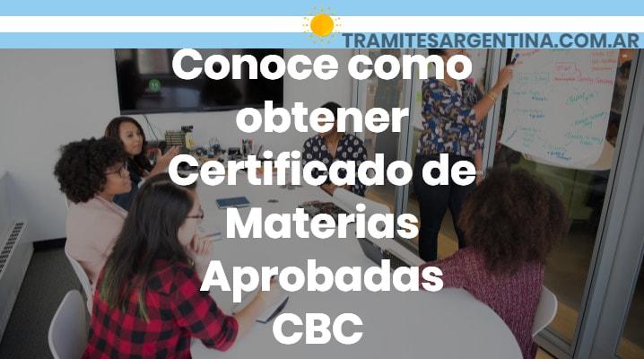 Certificado de materias aprobadas CBC