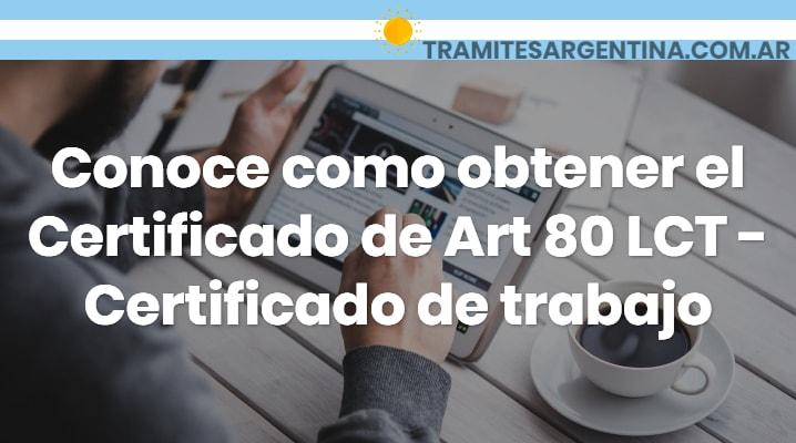 Certificado de Art 80 LCT