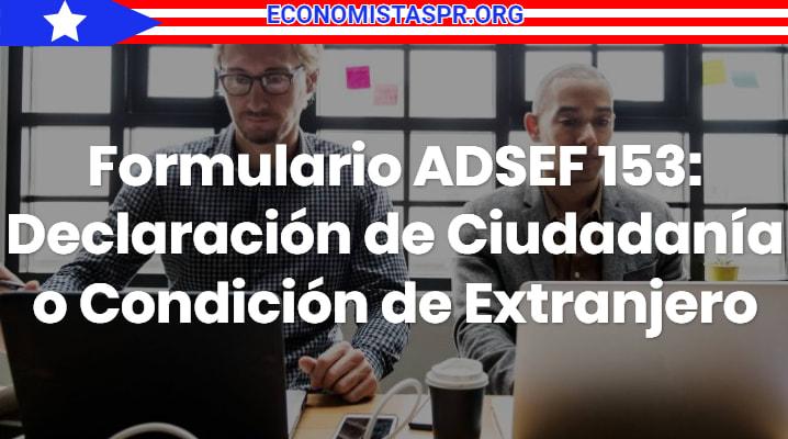 Formulario ADSEF 153