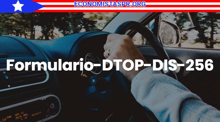 Formulario-DTOP-DIS-256