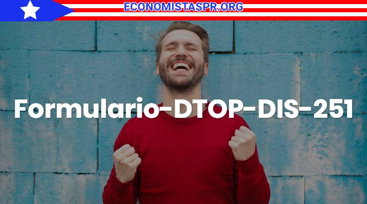 Formulario DTOP-DIS-261