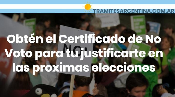 certificado no voto