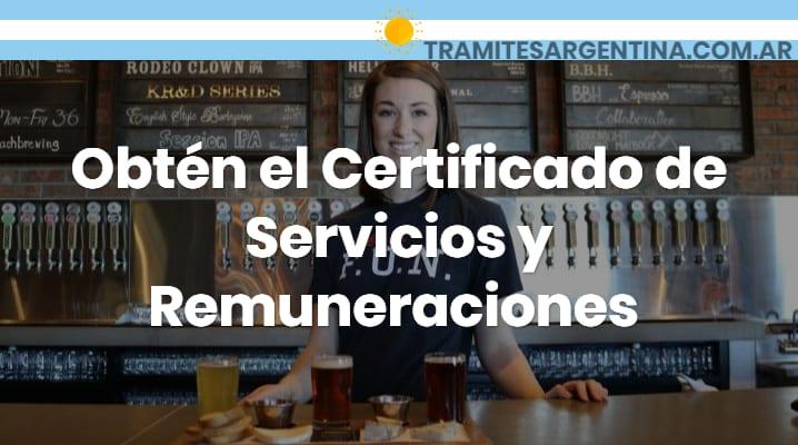 Certificado de servicios