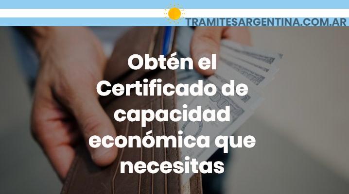 Certificado de capacidad económica