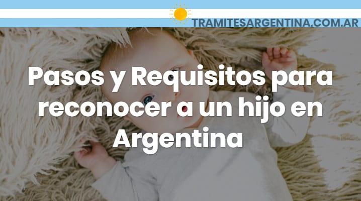Requisitos para reconocer a un hijo en Argentina