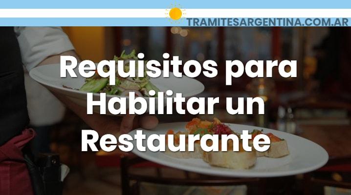 Requisitos para habilitar un local gastronómico