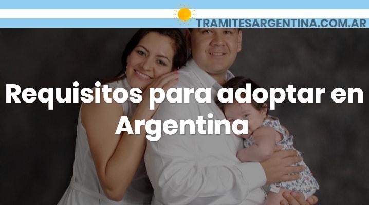 Requisitos para adoptar en Argentina