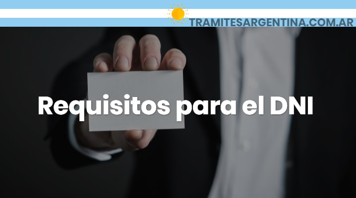 Requisitos para el DNI