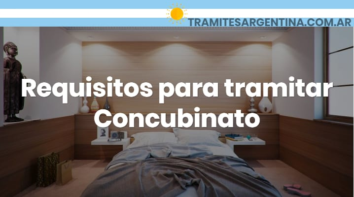 Requisitos para tramitar Concubinato