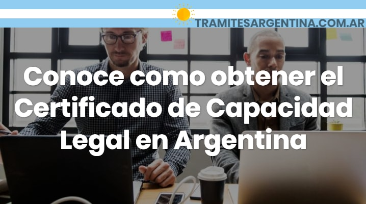 Certificado de capacidad legal