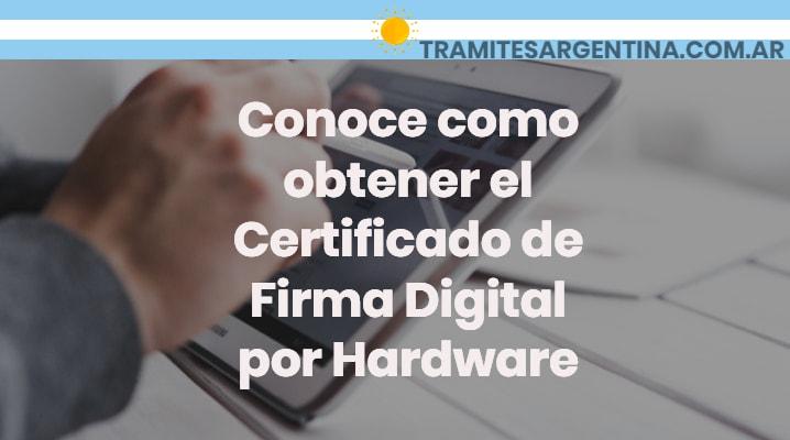 Certificado de Firma Digital