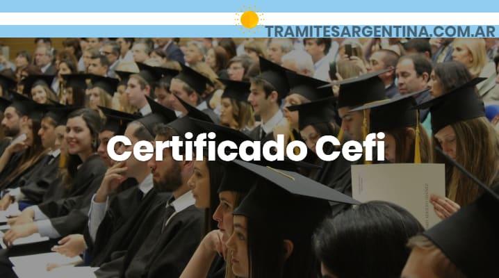 Certificado Cefi