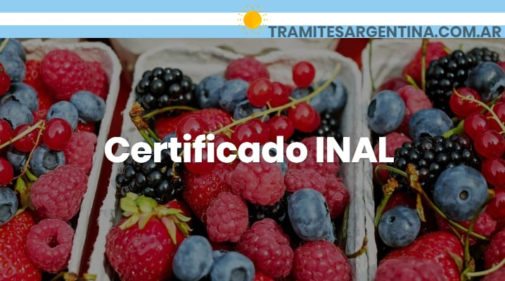 Certificado INAL