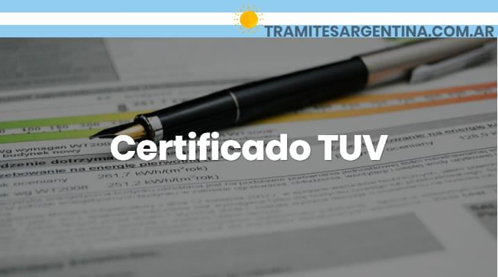 Certificado TUV