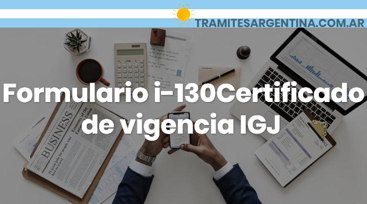 Certificado de vigencia IGJ