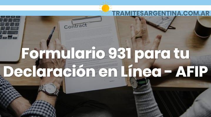 Formulario 931