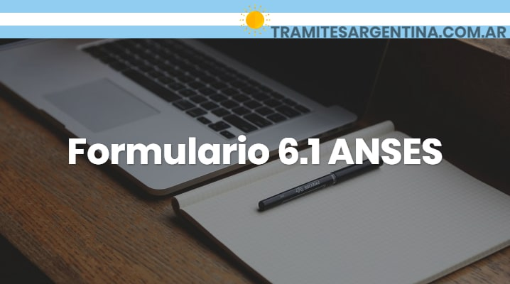 Formulario 6.1 ANSES
