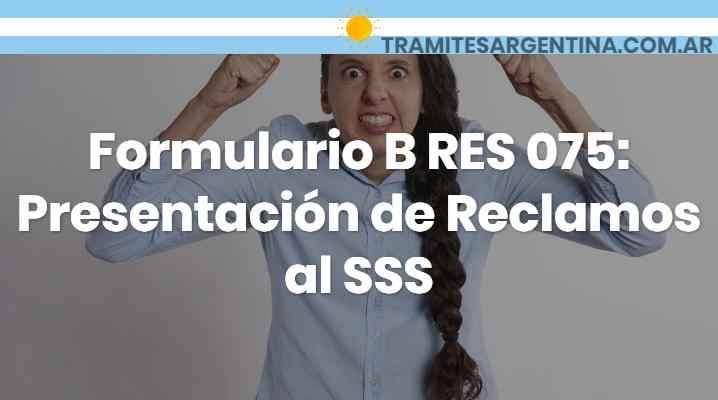 Formulario B RES 075