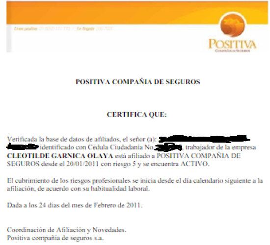 certificado arl positiva 2