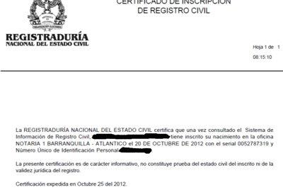 certificado de registraduría 5