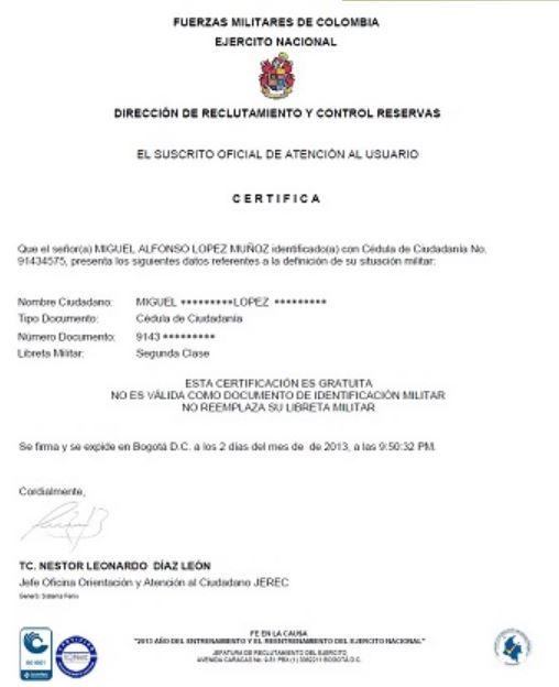 certificado militar