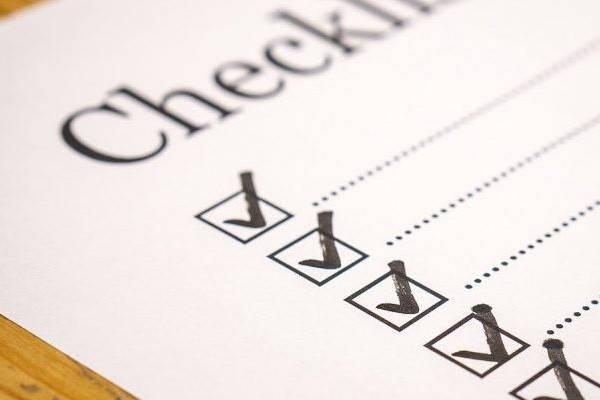 checklist certificado kosher
