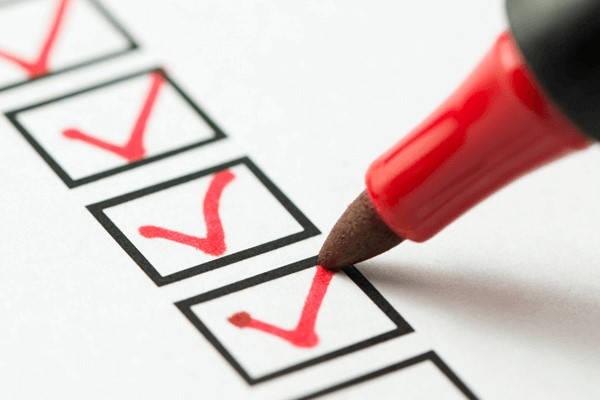 checklist certificado rut