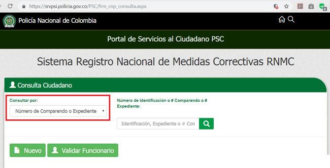Certificado de Medidas Correctivas RNMC