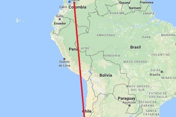 mapa requisitos para viajar a chile