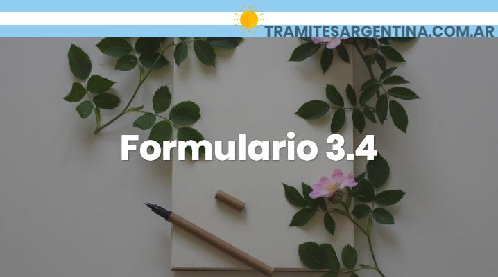 Formulario 3.4 MetroGas
